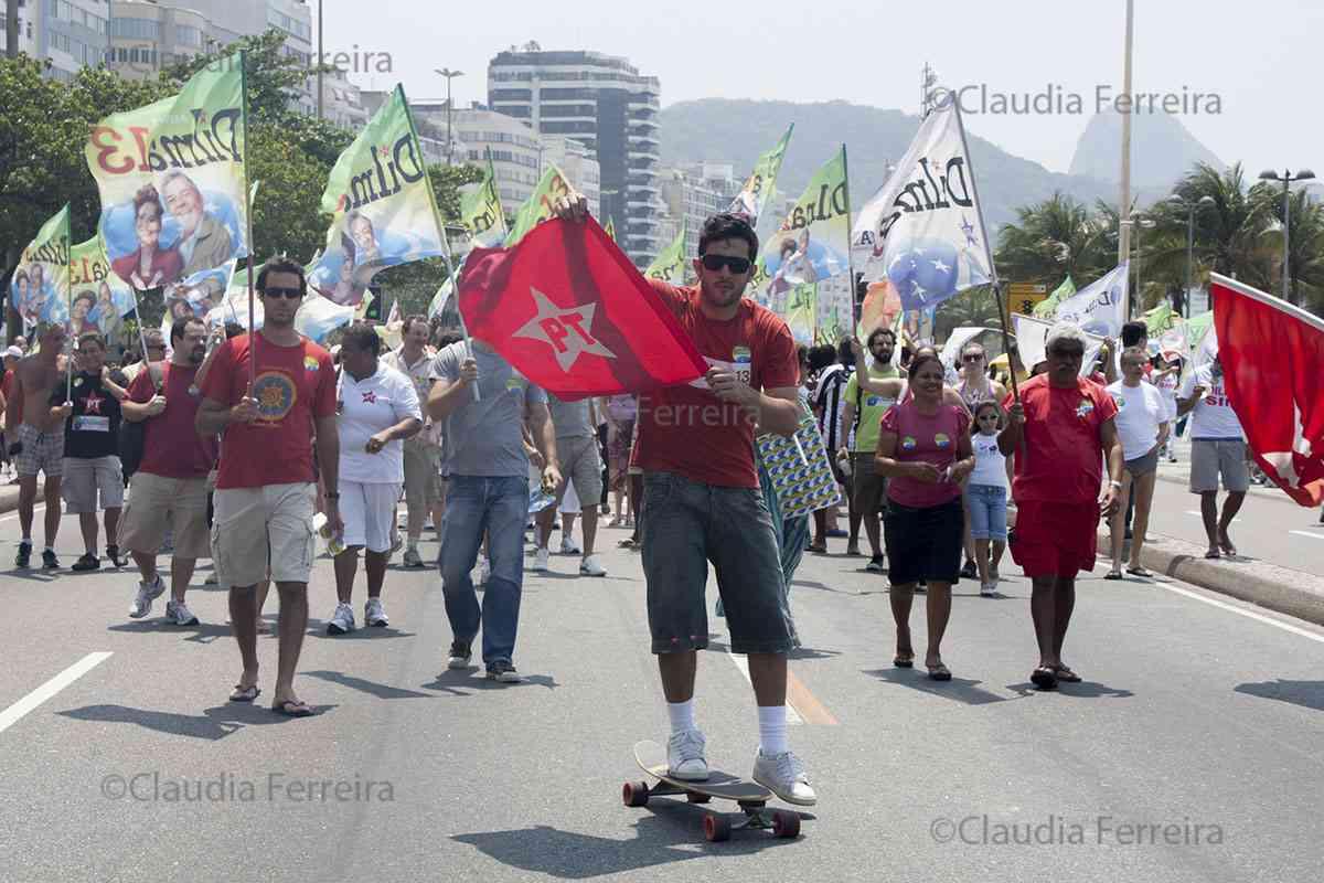 CAMPANHA PRESIDENCIAL CAMINHADA EM APOIO A DILMA ROUSSEF
