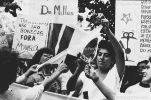 Manifestação  contra a revista íntima às funcionárias