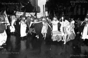 Passeata do Dia Internacional da Mulher, 8 de Março.