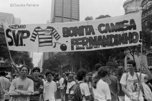 Students in the streets for the impeachment of President Collor de Melo