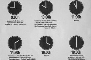 DIGA NÃO À VIOLÊNCIA - 25 DE NOVEMBRO DE 1985