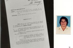 Primeira mulher pescadora autorizada pelo Ministério da Justiça