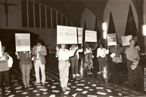 Manifestação contra a Violência contra Mulher