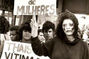 Manifestação contra a Violência contra a Mulher
