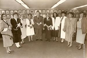 Ministro da Justiça Paulo Brossard com Deputadas
