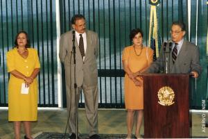 Rosiska Darcy de Oliveira, Ruth Cardoso e o Presidente Fernando Henque Cardoso