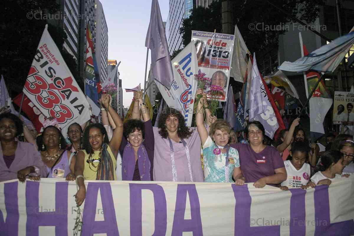 CAMPANHA PRESIDENCIAL LULA  - DIA LILÁS