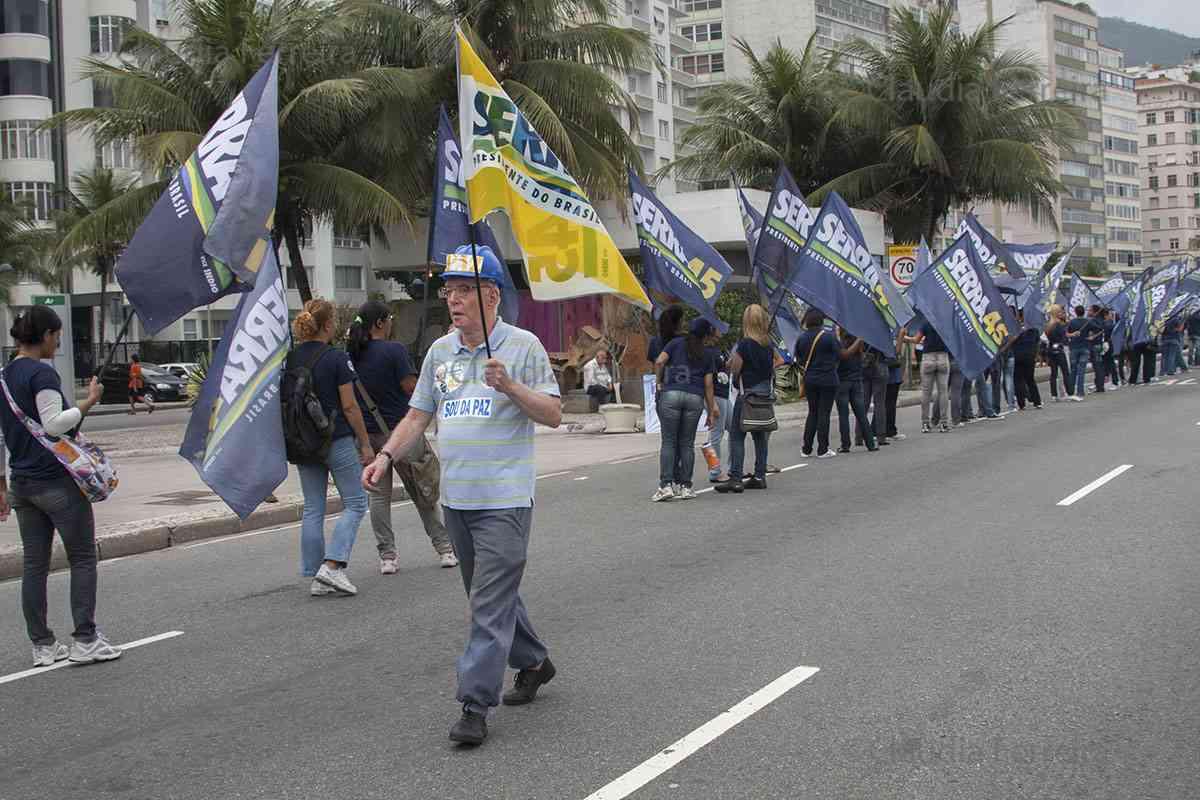 CAMPANHA PRESIDENCIAL, CAMINHADA EM APOIO A JOSÉ SERRA
