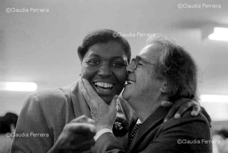 Benedita da Silva e Darcy Ribeiro