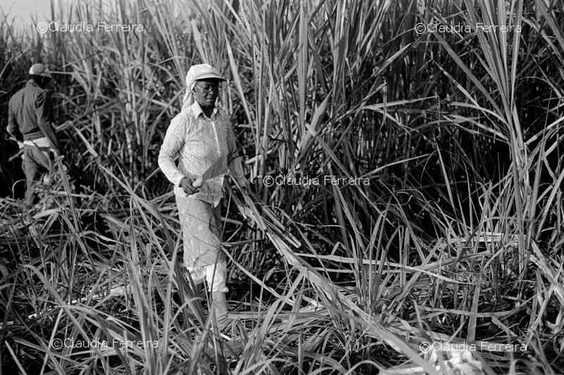 woman cane cutter