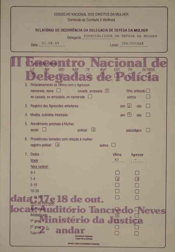 II ENCONTRO NACIONAL DE DELEGADAS DE POLÍCIA