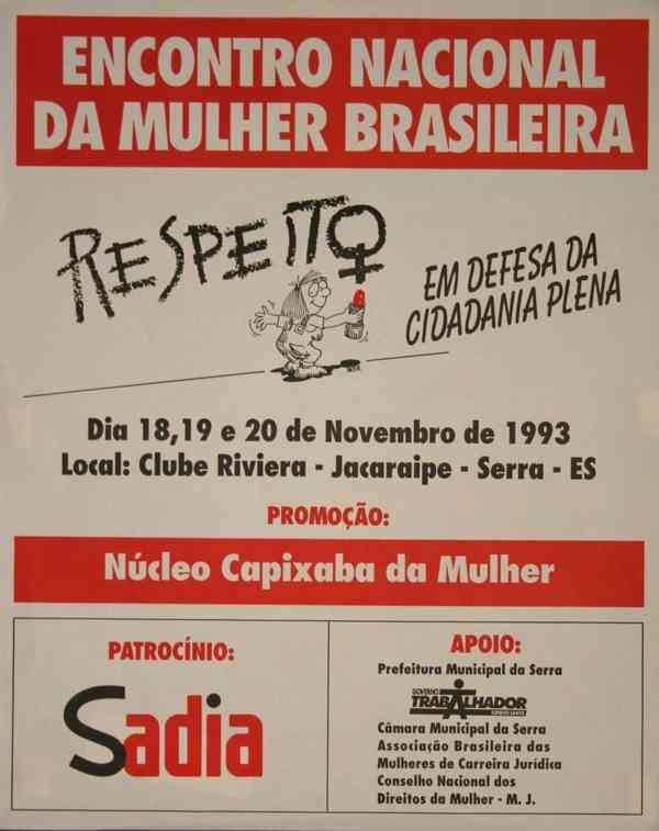 ENCONTRO NACIONAL DA MULHER BRASILEIRA