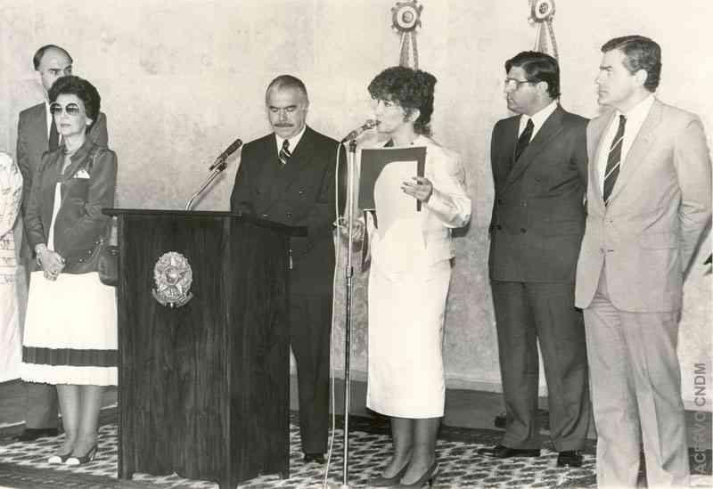 Posse de Ruth Escobar ao cargo de Presidenta do CNDM