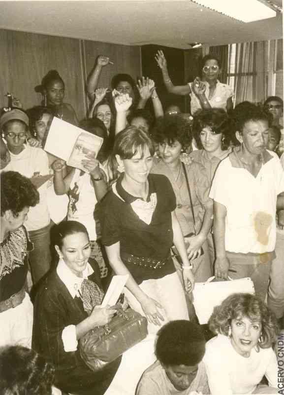 Encontro das Integrantes da Rede Mulher de Educação com a Equipe Técnica do CNDM durante o processo da Constituinte