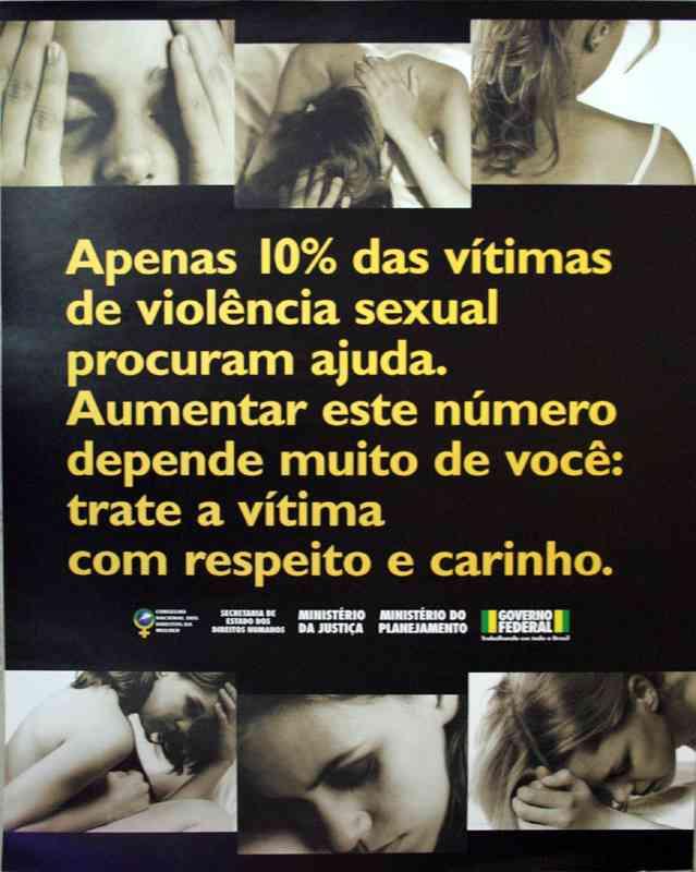 APENAS 10% DAS VÍTIMAS DE VIOLÊNCIA SEXUAL PROCURAM AJUDA